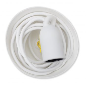 E27 lamp holder with ceiling rose and 3 m cord takkopp